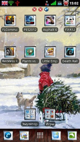 Winter Theme Go launcher EX - Зимняя тема